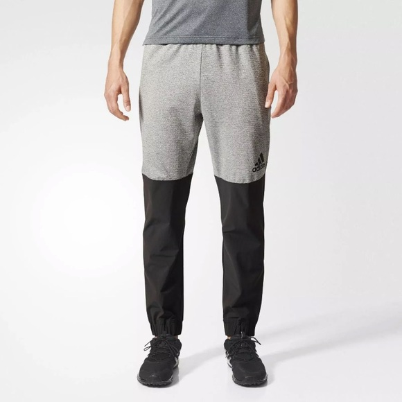a0a9c6cfd2ee Mens Adidas Extreme Workout Pant - Grey Black